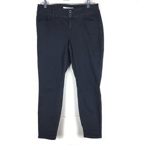 torrid twill skinny trouser pant gray size 12